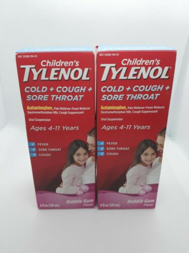 Children's Tylenol Cold, Cough, And Sore Throat Medicine, Bu