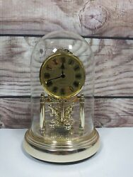 Vintage Seiko Quartz Glass Domed Mantle Table Clock QQZ172G Gold Tone - Japan