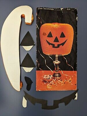 "Vintage Hallmark ""Jack- O'- Lite"" Honeycomb Crepe Halloween Party Decoration"