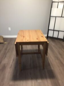 ikea dining table with folding leaves