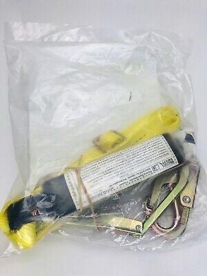 Riggers Safety L44026 Adjustable Shock Absorbing 6 Lanyard W Steel Rebar Hook