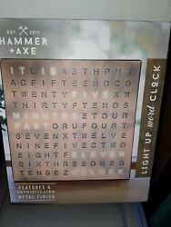Black Series Brown Hammer and Axe Table Top LED Word Clock Accessory $50 #158