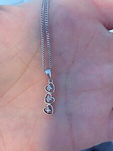 Diamond and White Gold Heart Necklace