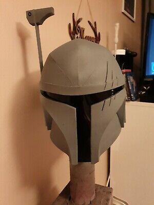 Star wars boba fett helmet style eva foam primed version mandalorian mk 2