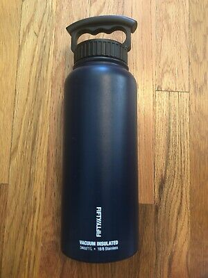 FIFTY/FIFTY DOUBLE WALLED VACUUM INSULATED WATER BOTTLE 34 OZ/ 1L  Green 1l Wall