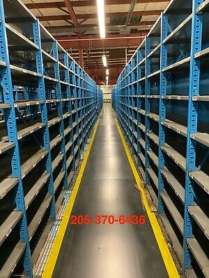 Used Borroughs Industrial Steel Shelving Units