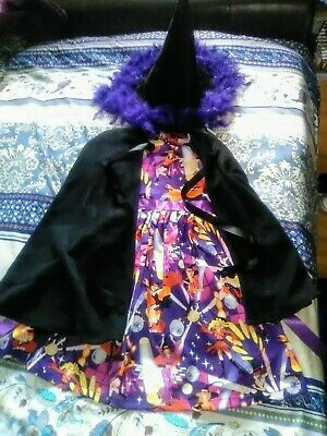 Unique Witch Costumes (Girls unique  handmade OOAK pretty witch Halloween Costume,brand new,  7~10yr)