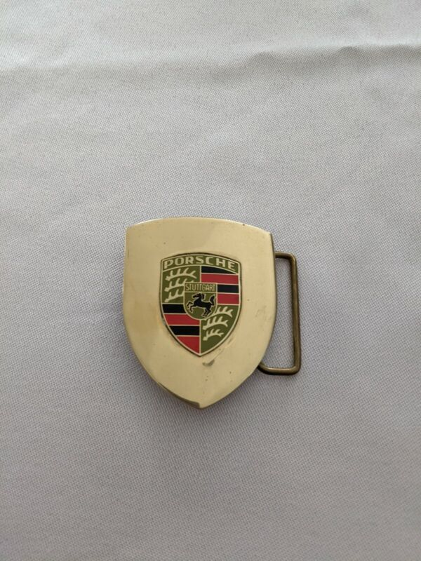 917 Porsche Brass Belt Buckle (1970s) Rare