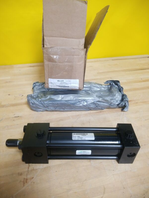 """Miller 4Z639 Double Acting Tie Rod Hydraulic Cylinder 2"""" Bore 6"""" Stroke"""