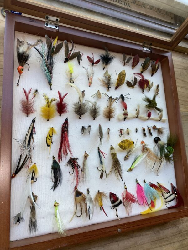 VINTAGE FLY FISHING  FLY COLLECTION