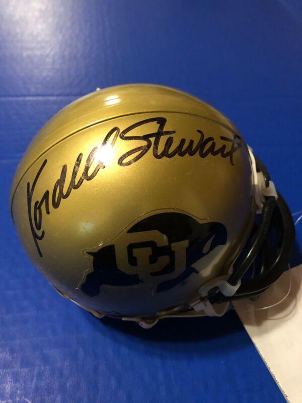Kordell Stewart COLORADO BUFFALOES Autograph Mini Helmet with COA