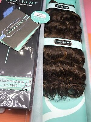 """IndiRemi® Virgin Remi Hair Weave_FRENCH_WAVE_WEAVING_12""""_#P4/30 Indi Remi French Wave"""