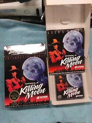 Under A Killing Moon Vtg Big Box PC Computer Game Interactive Movie Action on CD