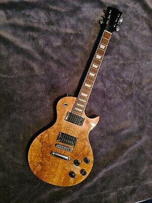Natural Wood LP Single Cut Style Guitar