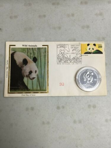 1995 WORLD WILDLIFE $50 TIMOTHY EATON .999 1 oz  SILVER COIN