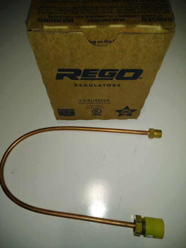 Rego High Capacity 2 Stage LPG Regulator LV404B34. Bonus Pigtail Included