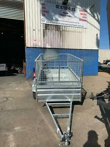 6X4 HIGH SIDE BOX TRAILER GAL WITH 600MM CAGE  Smithfield Parramatta Area Preview