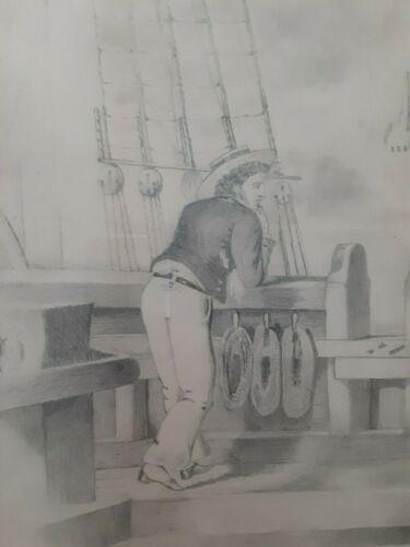AMERICAN SAILOR FOLK ART,FEDERAL PERIOD CIRCA 1810 TO 1830