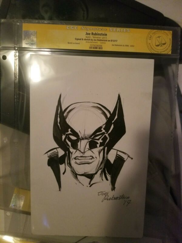Wolverine CGC Joe Rubinstein Sketch