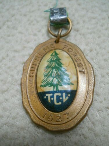 Vintage 1927 Supreme Forest Tall Cedars of Lebanon Celluloid Medal
