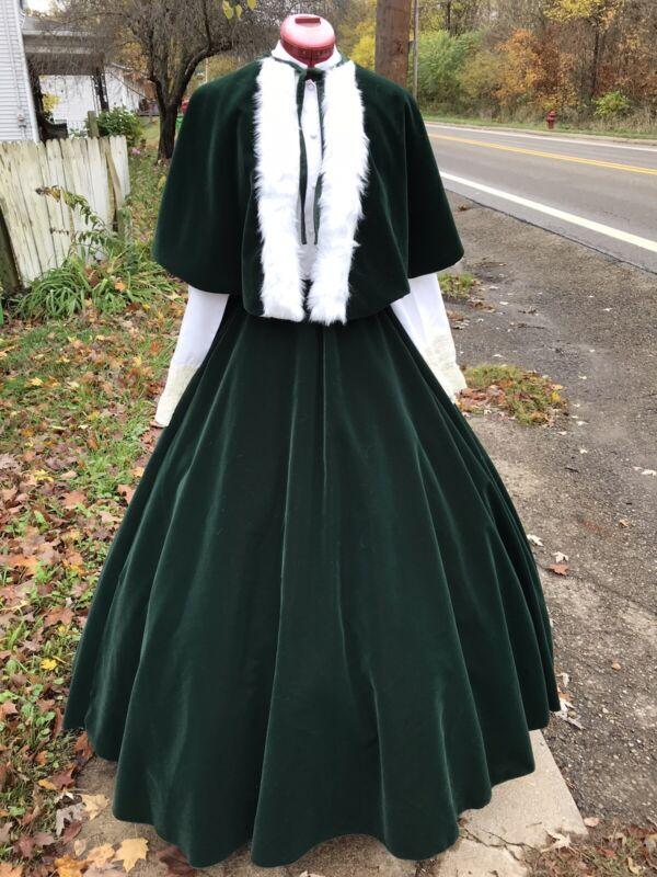 Civil War Dress Victorian Dickens Mrs Santa Claus Christmas Caroling Costume