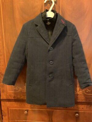 Appaman Boys Herringbone Wool Coat Size 5