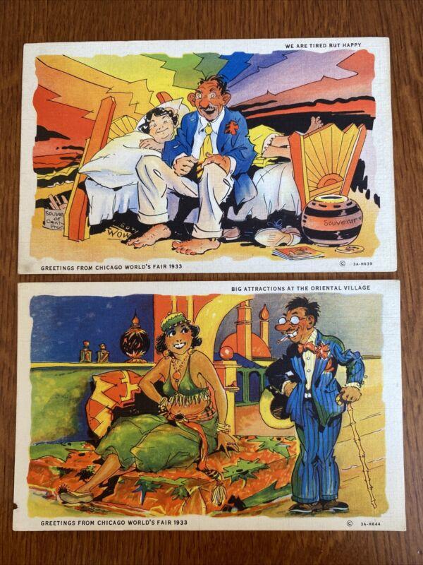 Chicago Worlds Fair Postcards x2