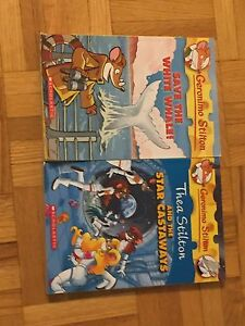 One Geronimo stilton and one Thea stilton book