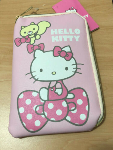 BRAND NEW Sanrio Hello Kitty Pink Wristlet Case / Cosmetic Bag Half Zip (A13)