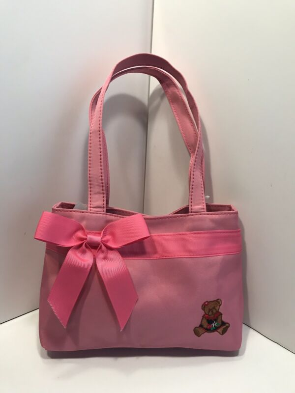 Little Girl's Pink Teddy Bear Purse or Tote