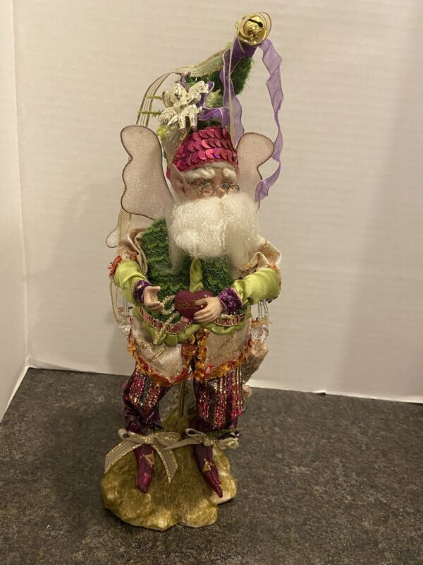 """Mark Roberts Merry Christmas Fairy Small 10.5"""" With Stand"""