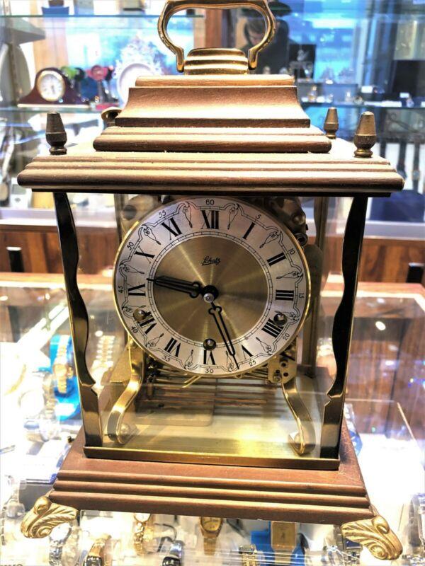 SCHATZ Mantel CLOCK, German TRIPLE CHIME Mid Century – Time, Gift, Celebration