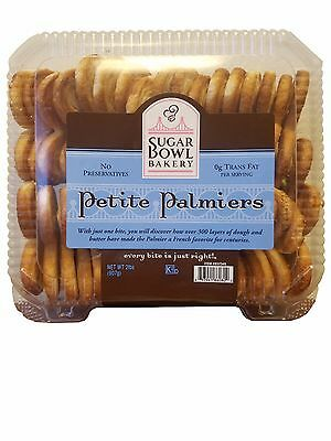 Sugar Bowl Bakery Petite Palmiers, French Style Favorite Cookies 2 LB