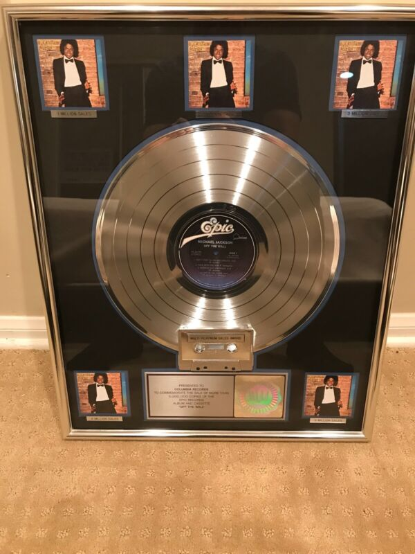 "Michael Jackson ""Off The Wall"" Platinum album Certified RIAA"
