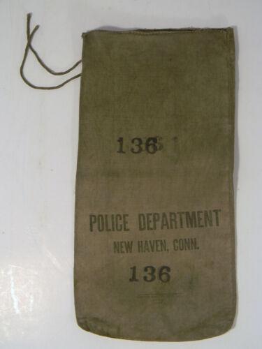 VINTAGE NEW HAVEN POLICE DEPARTMENT UTILITY BAG #136