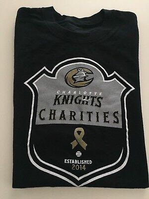 Charlotte Baseball - Charlotte Knights Minor League Baseball Charities Shirt Black Extra Large XL