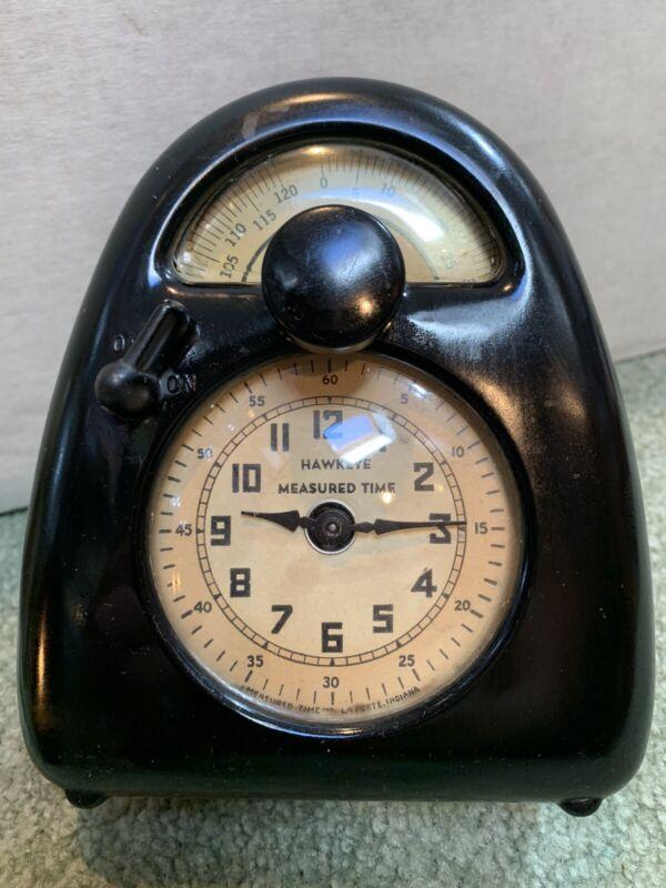 "WORKING! 1932 ISAMU NOGUCHI Hawkeye Measured Time Clock Timer Bakelite Case 6"""