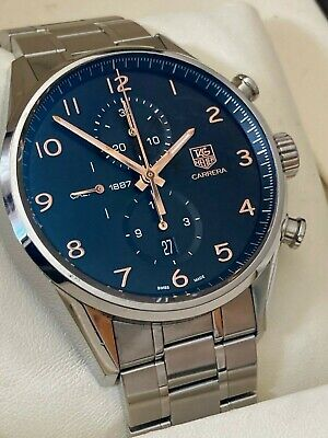TAG HEUER CARRERA CHRONOGRAPH AUTOMATIC CALIBRE 1887 ROSE GOLD WATCH CAR2014