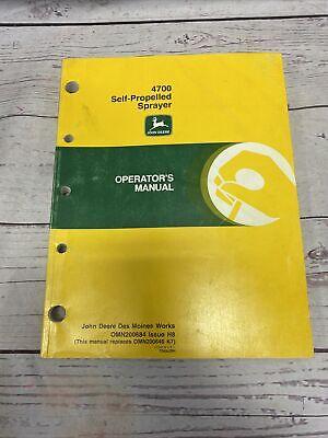 John Deere 4700 Self Propelled Sprayer Owners Manual
