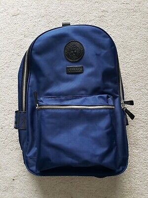Versace Backpack 100% Authentic Navy Blue. New Without Tags.