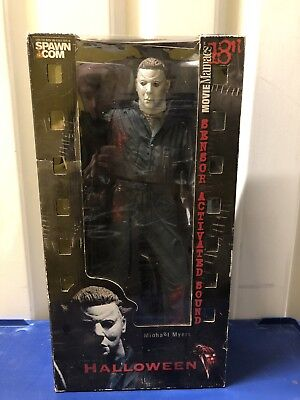 "McFarlane Movie Maniacs 18"" Motion Activated Figure Michael Myers Halloween MM9"