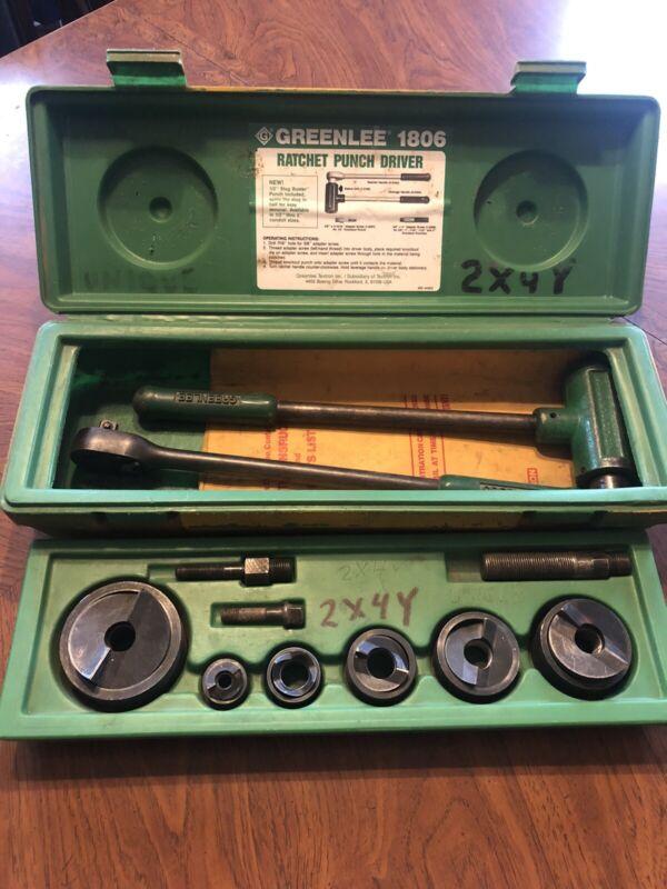 Greenlee 1806 Ratchet Knockout Punch Driver Kit