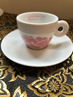 Illy Espresso Expresso Cup & Saucer Onteprimo Michael Lin IPA Italy Porcelain