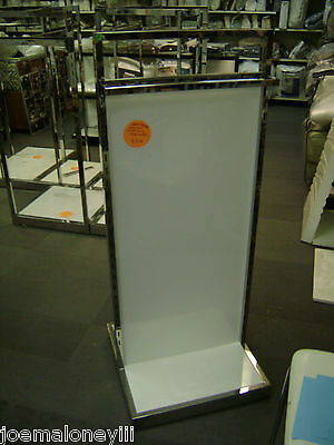 Retail Store Fixture Display Rack Two Sided White Display