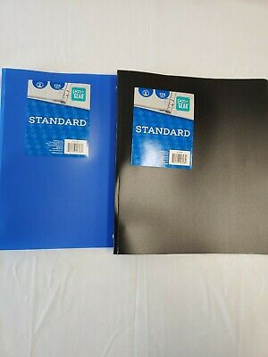 Lot X2 Pen Gear Standard 1inch 3-ring Binder 1 Black 1 Blue Brand New