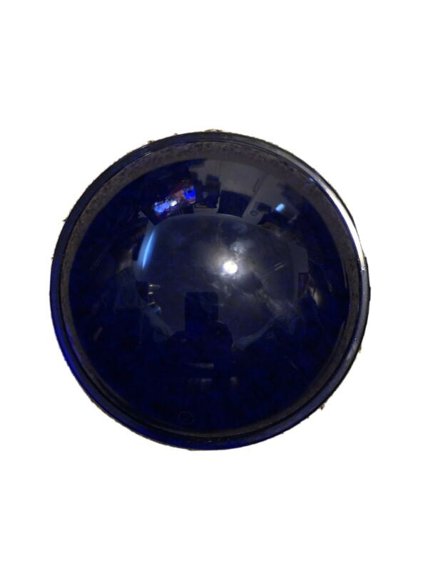 14 New Vintage Blue Stage Light Lens Covers 5 1/2 Inches Round