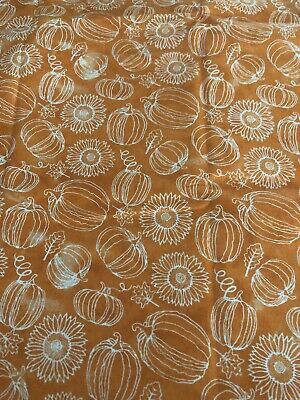 """1 yd Fabric 100% Cotton Harvest Bounty Sunflower for Face Masks (36""""x42"""")"""