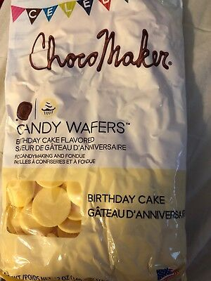 ChocoMaker(R) Candy Wafers Birthday  Cake Flavored Chocolate Melts  12 oz Bag - Chocolate Candy Melts