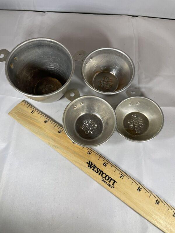 Vintage Metal Measuring Cup Set