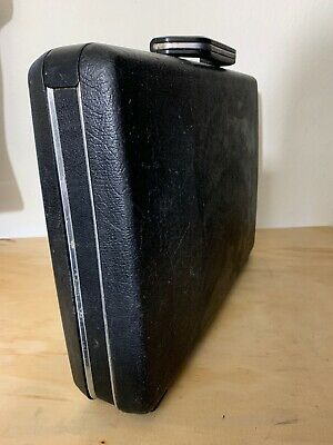 "Samsonite Hard Shell Black Briefcase Attache No Keys 18""x13""x4"""